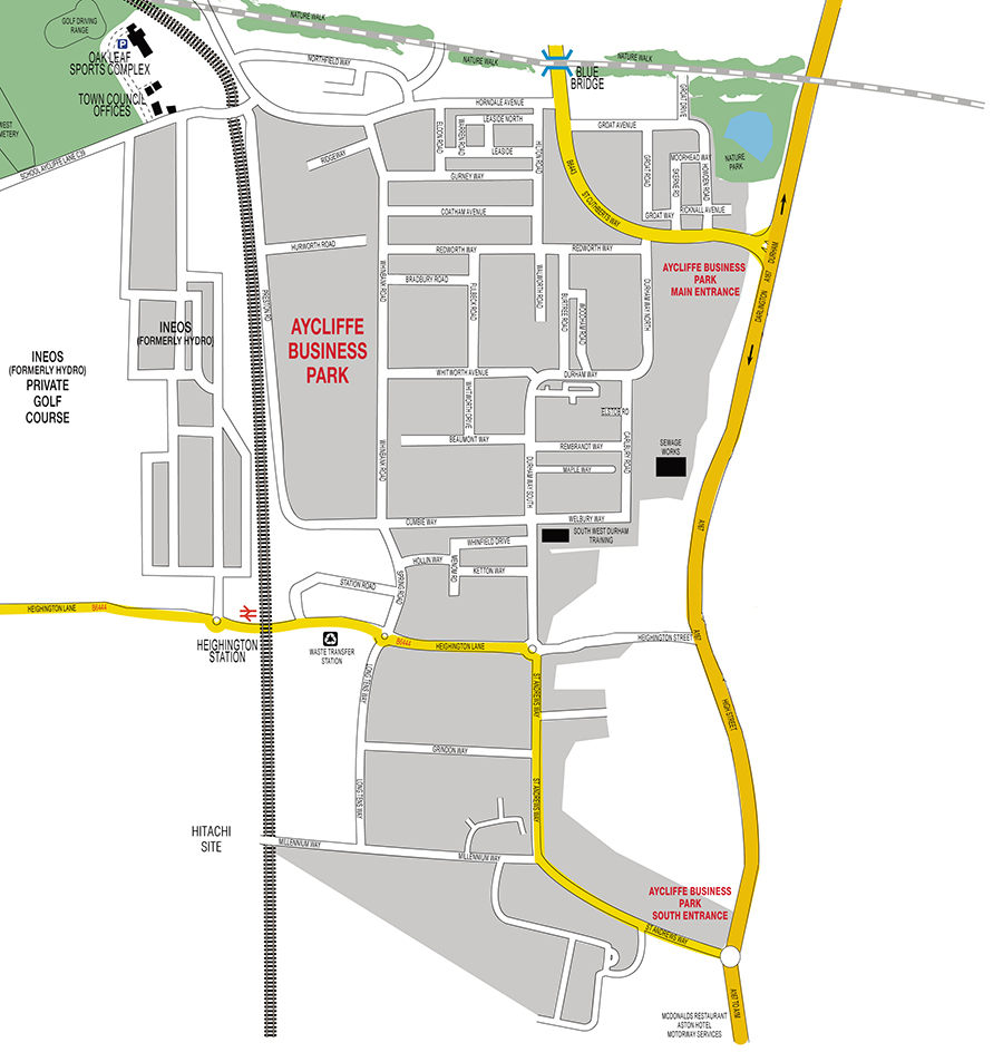 Aycliffe Business Park Map