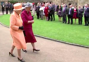 Newtonian Enjoys Lunch with the Queen