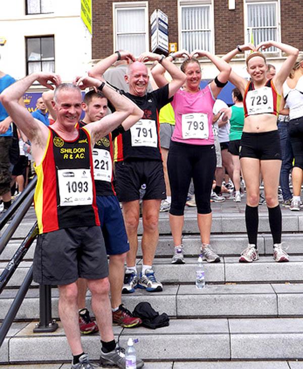 Aycliffe Runners in Darlington 10K Race