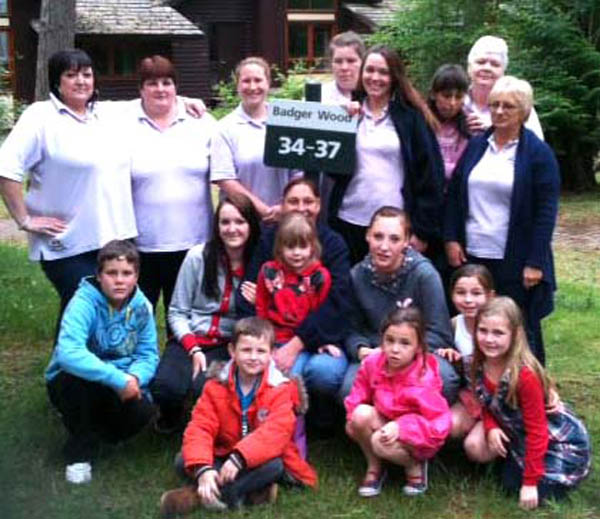 Weekend for Wecan Group at Centre Parks