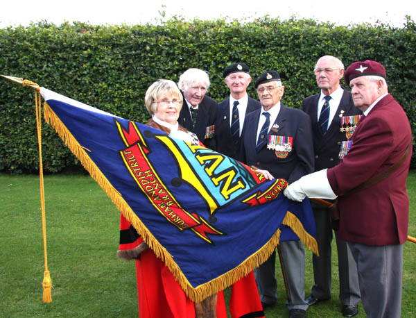 Normandy Veterans' Banner in the Safekeeping of the Town Council