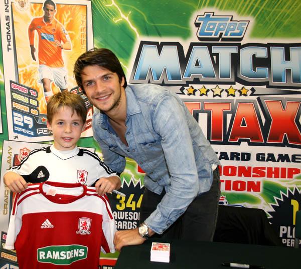 Match Attax Fans Meet Boro Star At Tesco's