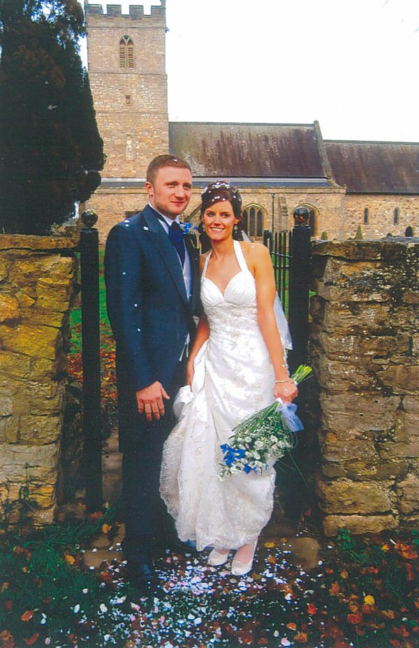 Married at St. Andrew's, Aycliffe Village