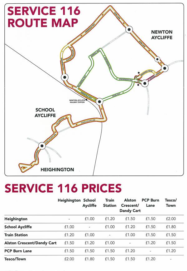 No. 116 Bus Timetable