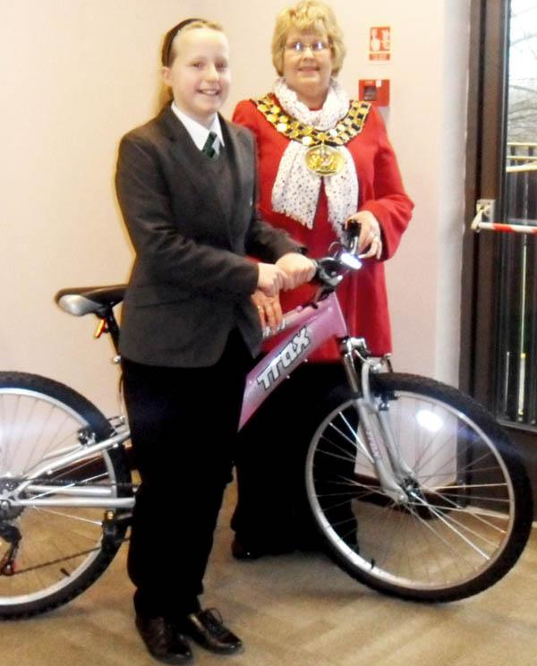 Town Council Sports Skills bike draw Winner