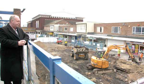 Redevelopment Work in Town Centre on Schedule