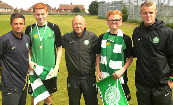 Celtic FC Coaches at Woodham