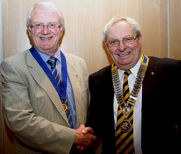 New President of the Town's Rotary Club