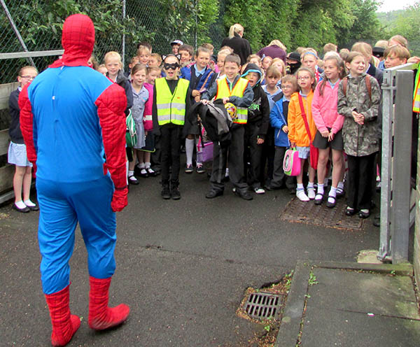 Spiderman Visits Aycliffe