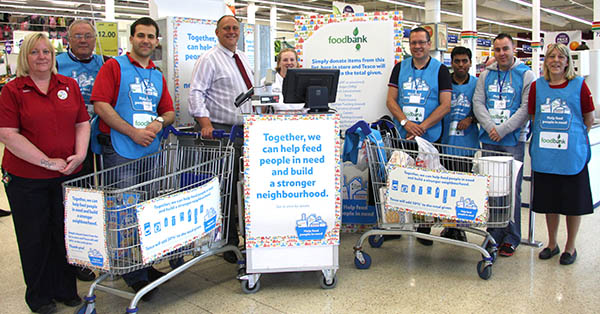 Tesco Collection For Food Bank The Best Ever Newton News