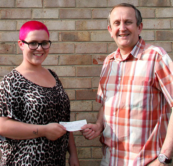 Teenager Loses Hair for cancer Charity
