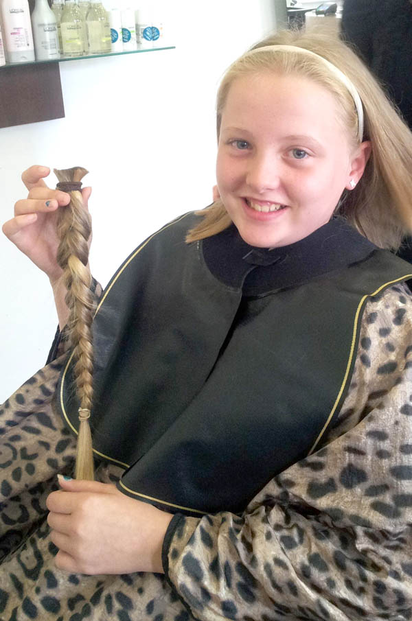 11 year old Adara's Haircut for Charity