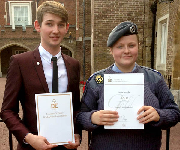 Air Cadets Receive D of E Awards at St. James Palace