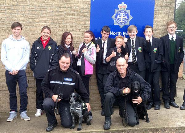 Aycliffe Students Visit Police Dog Unit
