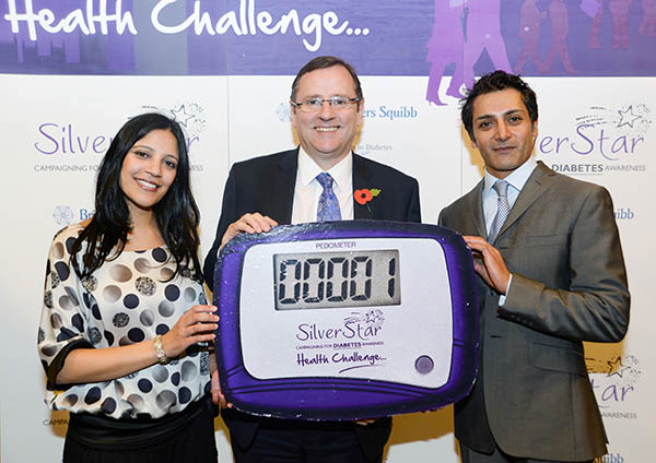 MP Takes Pedometer Challenge For Diabetes Awareness