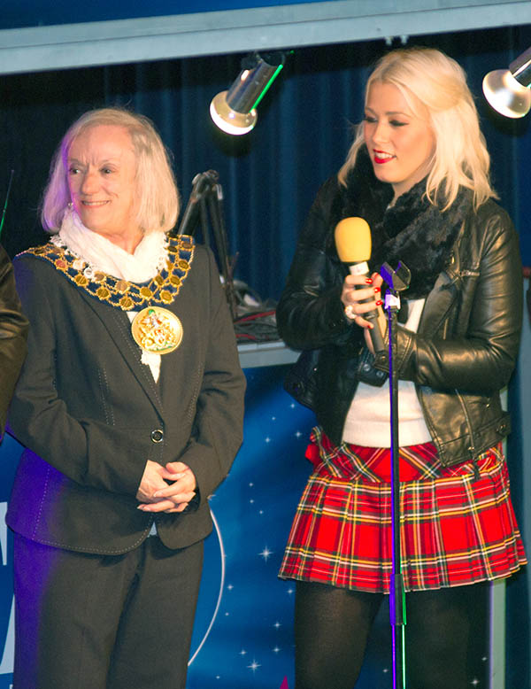 Pop Star at Re-launch of Aycliffe Town Centre