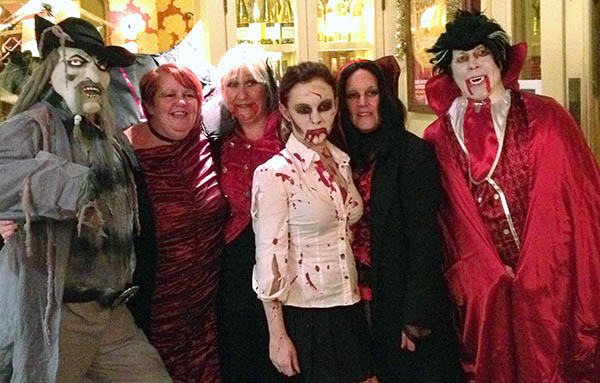 Halloween Revellers at the Cobblers