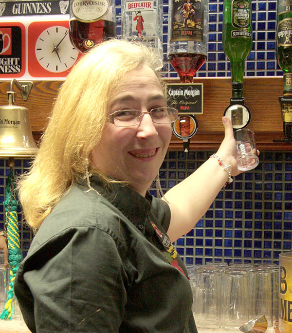 Bar Lady's Hair Shave Raises £600