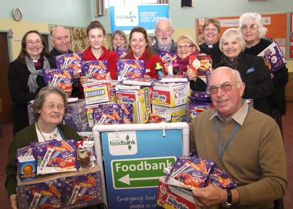 Town Churches Christmas Boost For Foodbank