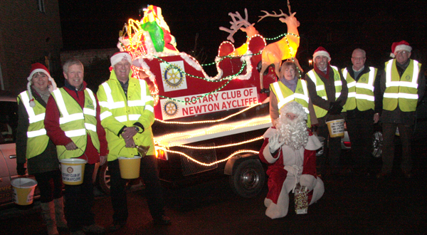Rotary Club Tour the Streets with Santa Claus