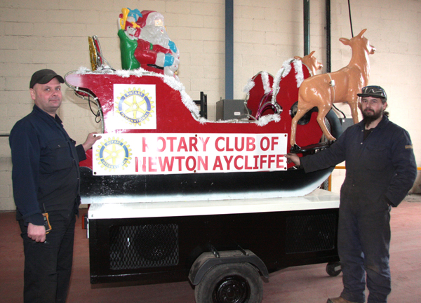Aycliffe Company Rebuild Santa's Sleigh Ready for Tour of the Town