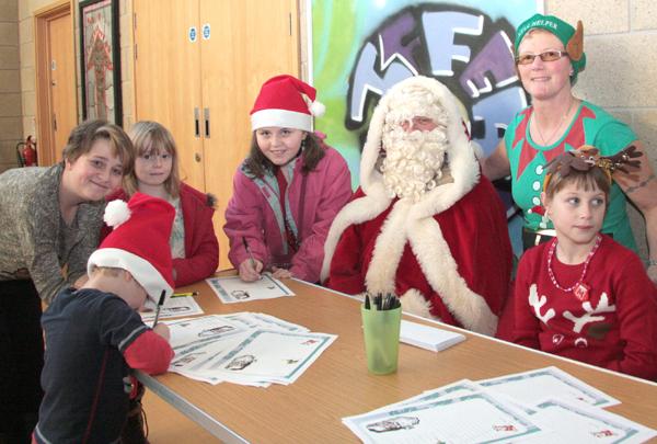 Santa Visits Craft Fair