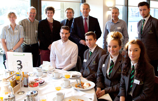 Woodham Sport Academy Students Meet Tony Blair