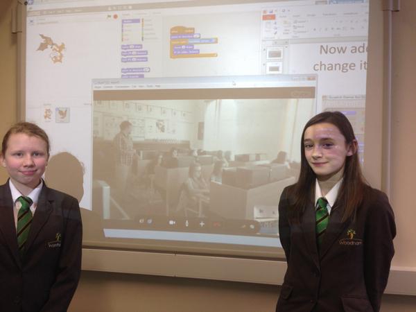 Woodham Academy Digital Leaders Teach Hungarian Students