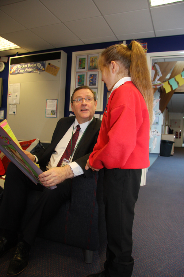 MP Phil Wilson's Visit to St. Francis School