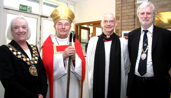 Town Mayor at New Rector's Induction