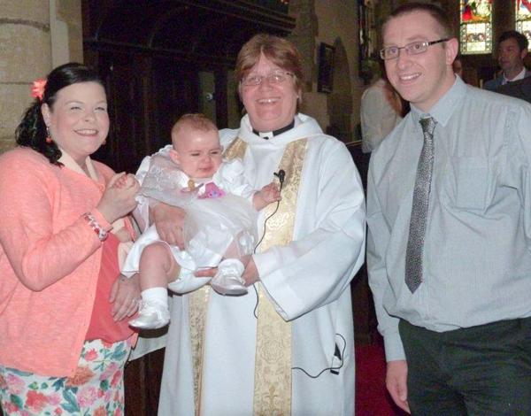 Rev Julie Wing's Last Aycliffe Christening