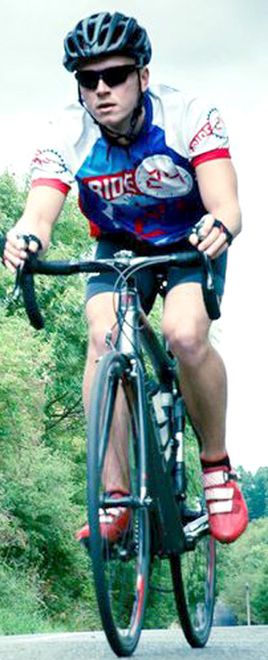 Aycliffe Cyclist on 300 mile Fundraiser