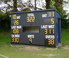 Cricket Club Scoreboard 10/06/16