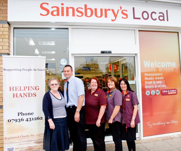 """Aycliffe Sainsbury's Choose to Support """"Helping Hands"""""""