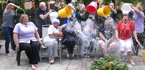 Care Home Staff Take the Ice Bucket Challenge