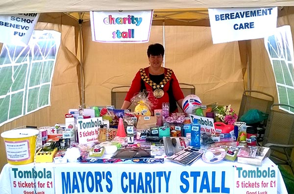 Mayor's Stall Raised £500  at Great Aycliffe Show