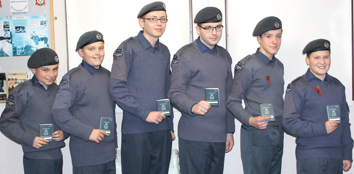 Recruits for Town's Air Cadet Corps