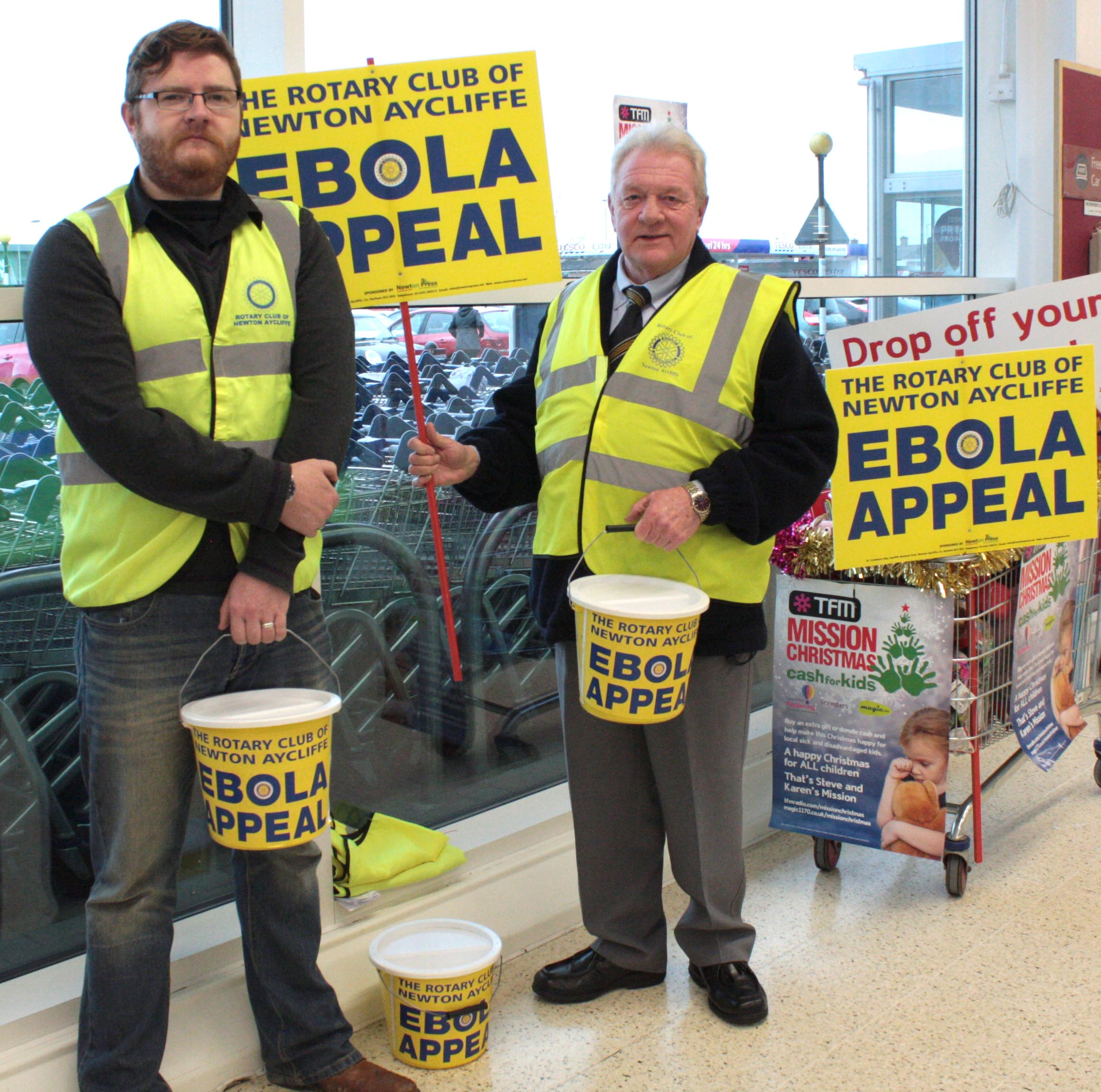 Rotary Club Collect £500 for Ebola Appeal