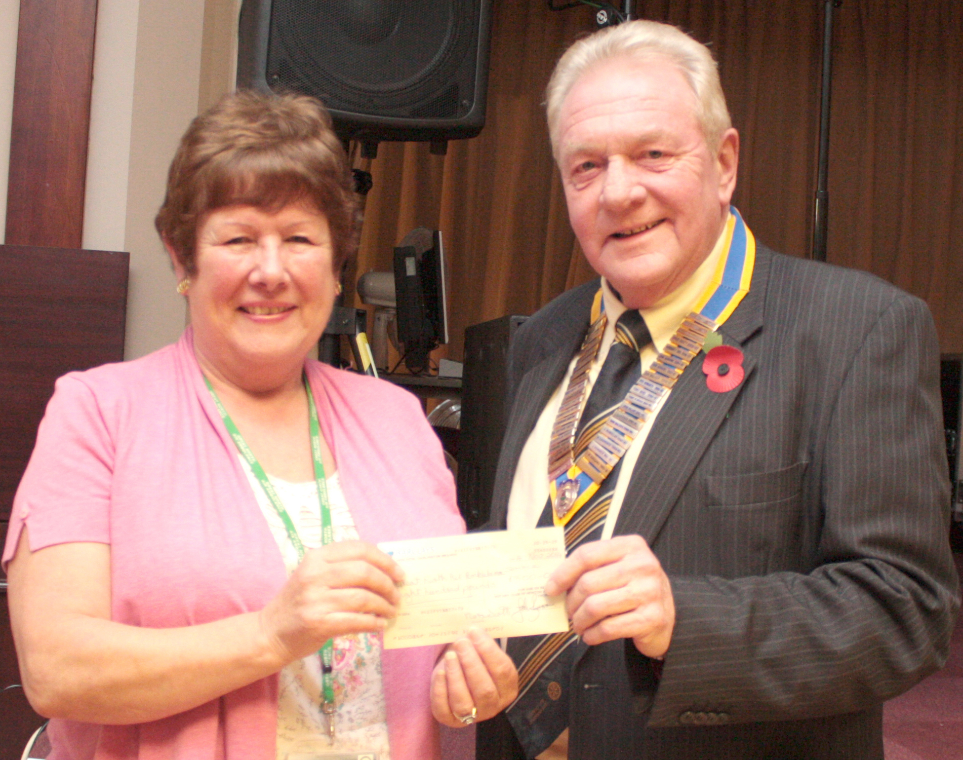 Air Ambulance Receive £800 from the Rotary Club