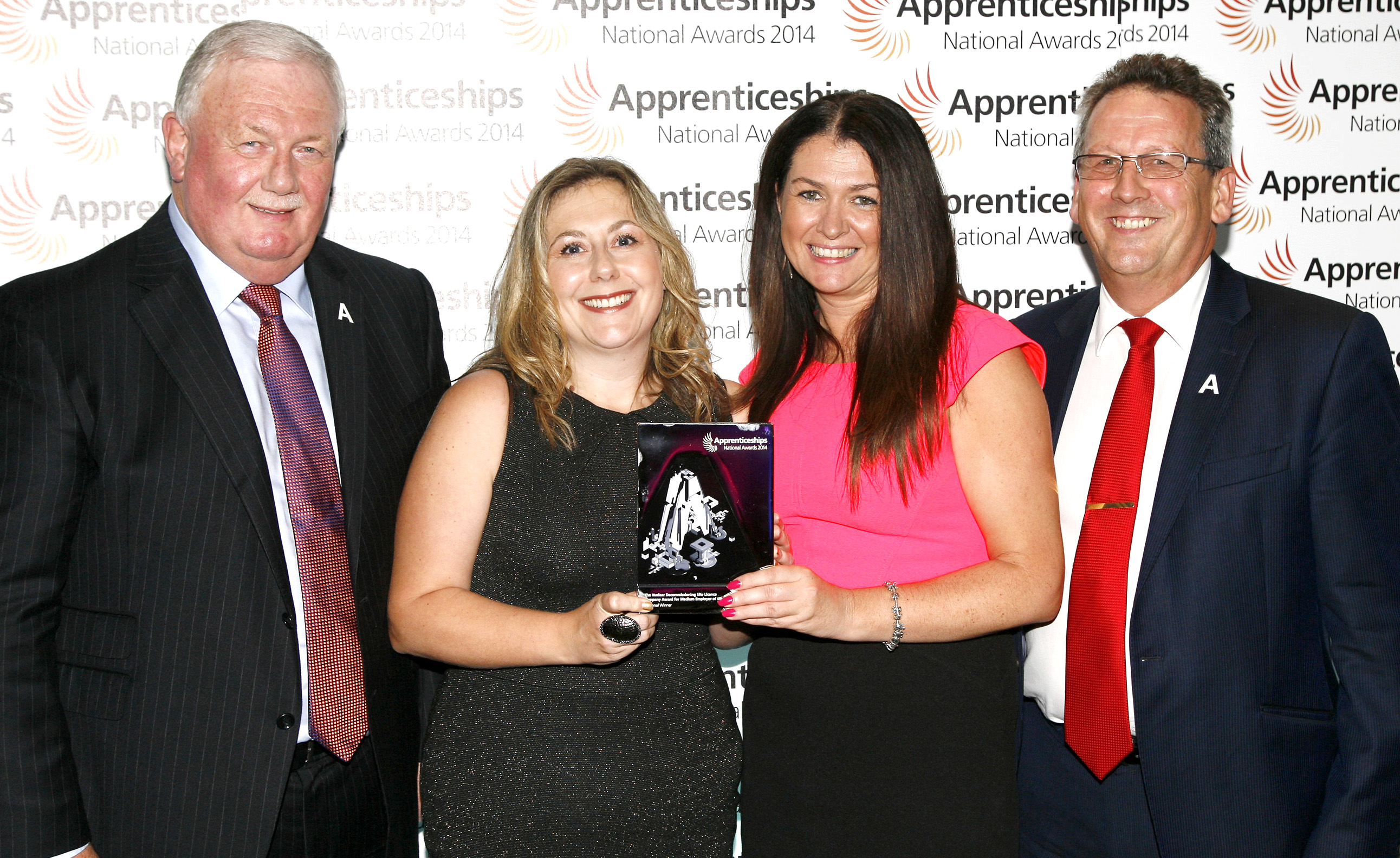 Award for Livin at National Apprenticeship Event