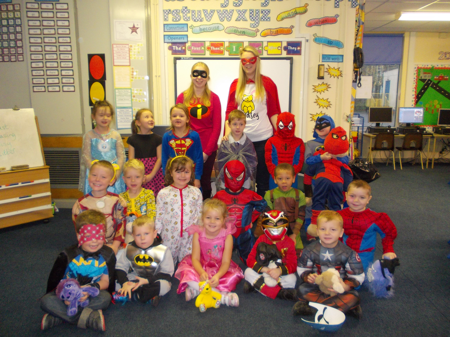 Superheroes at Stephenson Way raise £600 for Children in Need