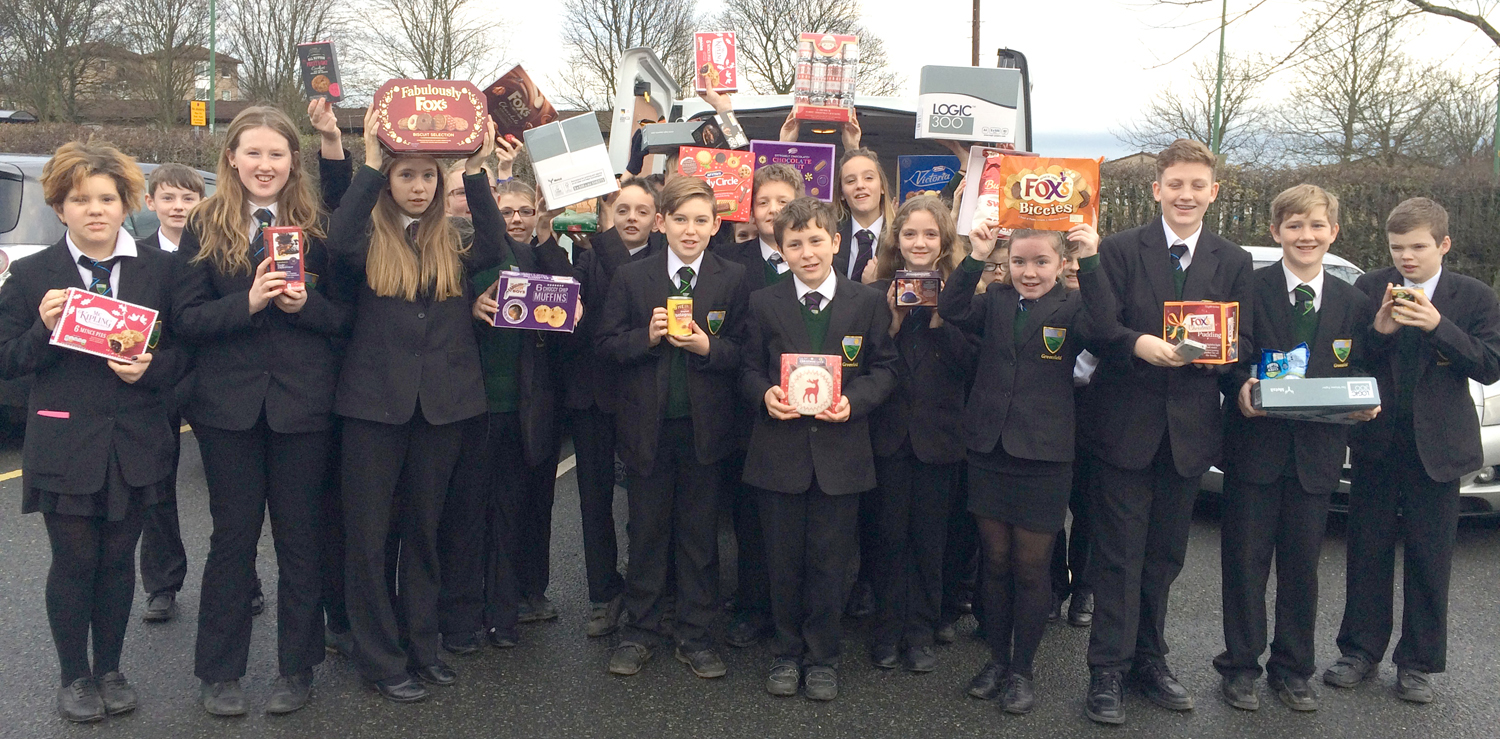 Greenfield Students Support Christmas Foodbank Appeal