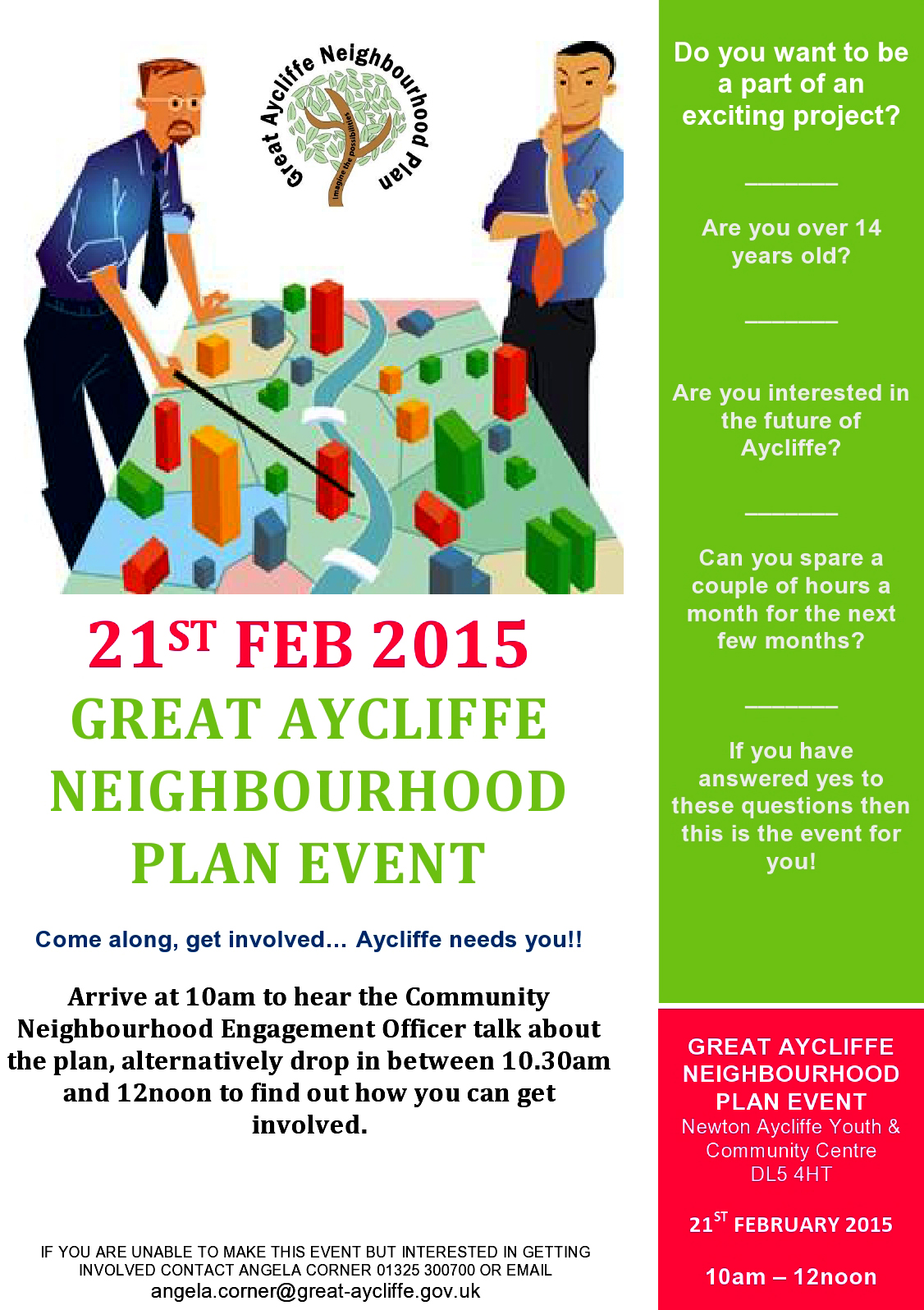 Residents Urged to Help Plan the Future of our Town