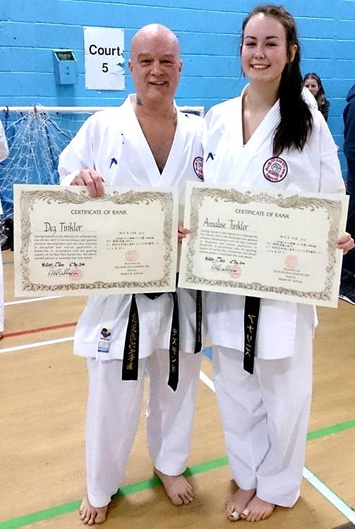 Father & Daughter 2nd Dan Black Belt Grading