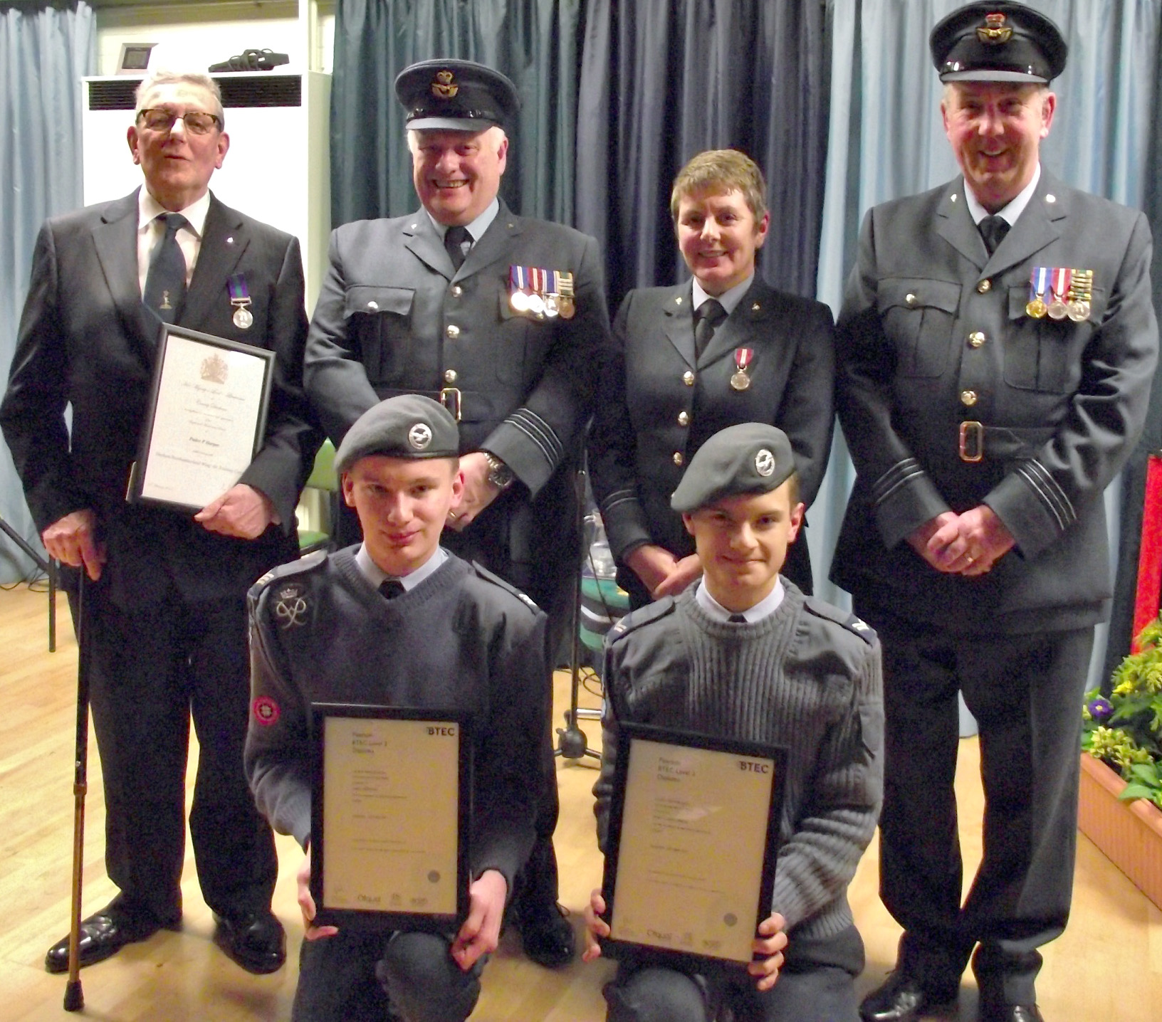 Aycliffe Cadets and Staff Earn Awards