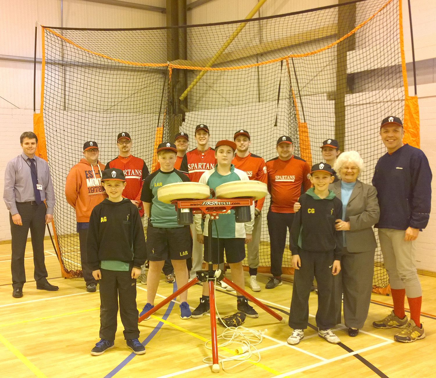 Town's Baseball Club Receive New Pitching Equipment