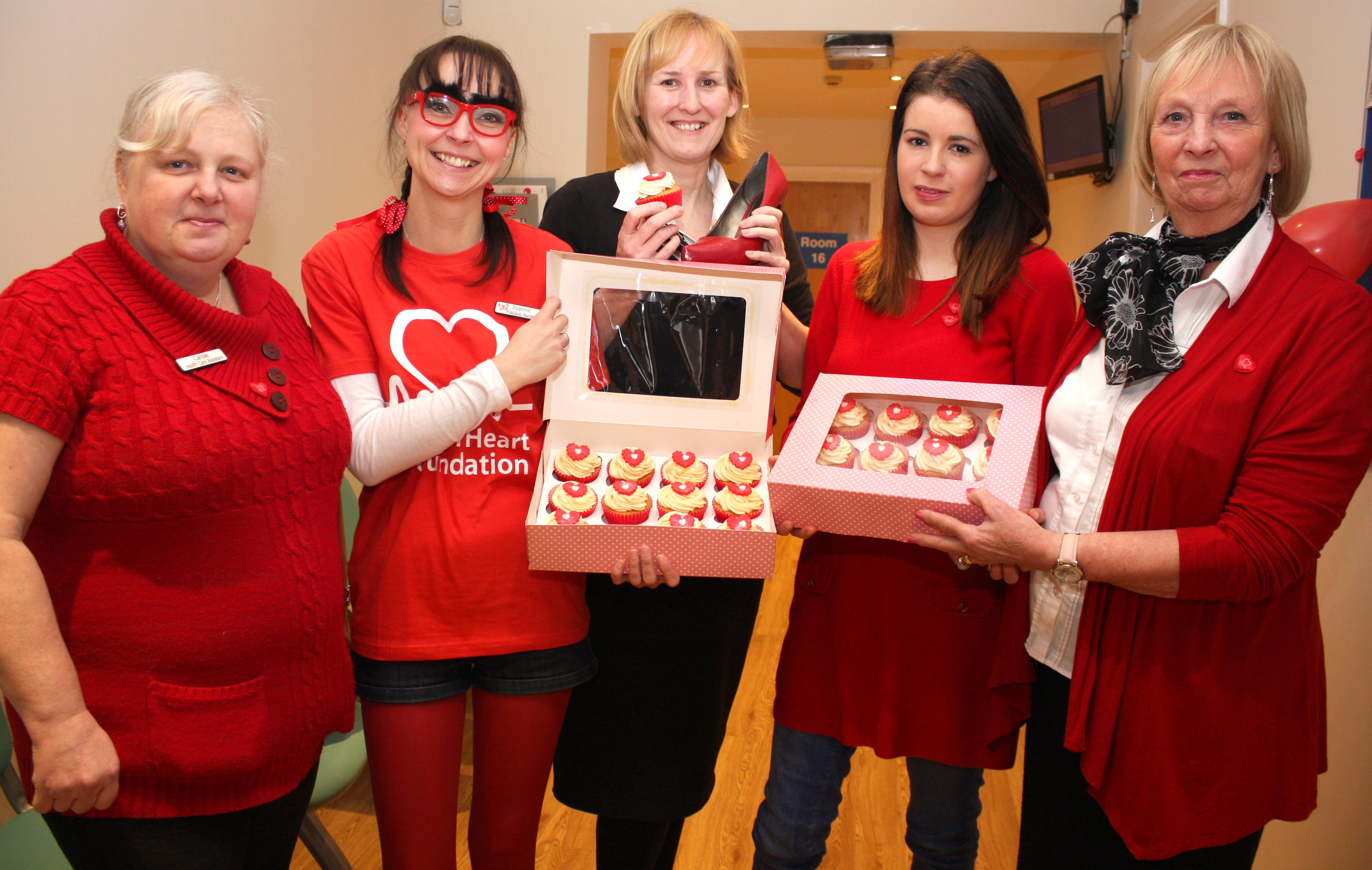Surgery Staff Go Red for BHF