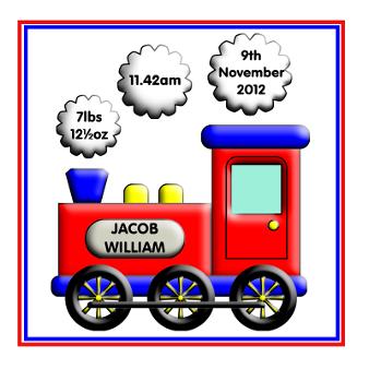 little boy train