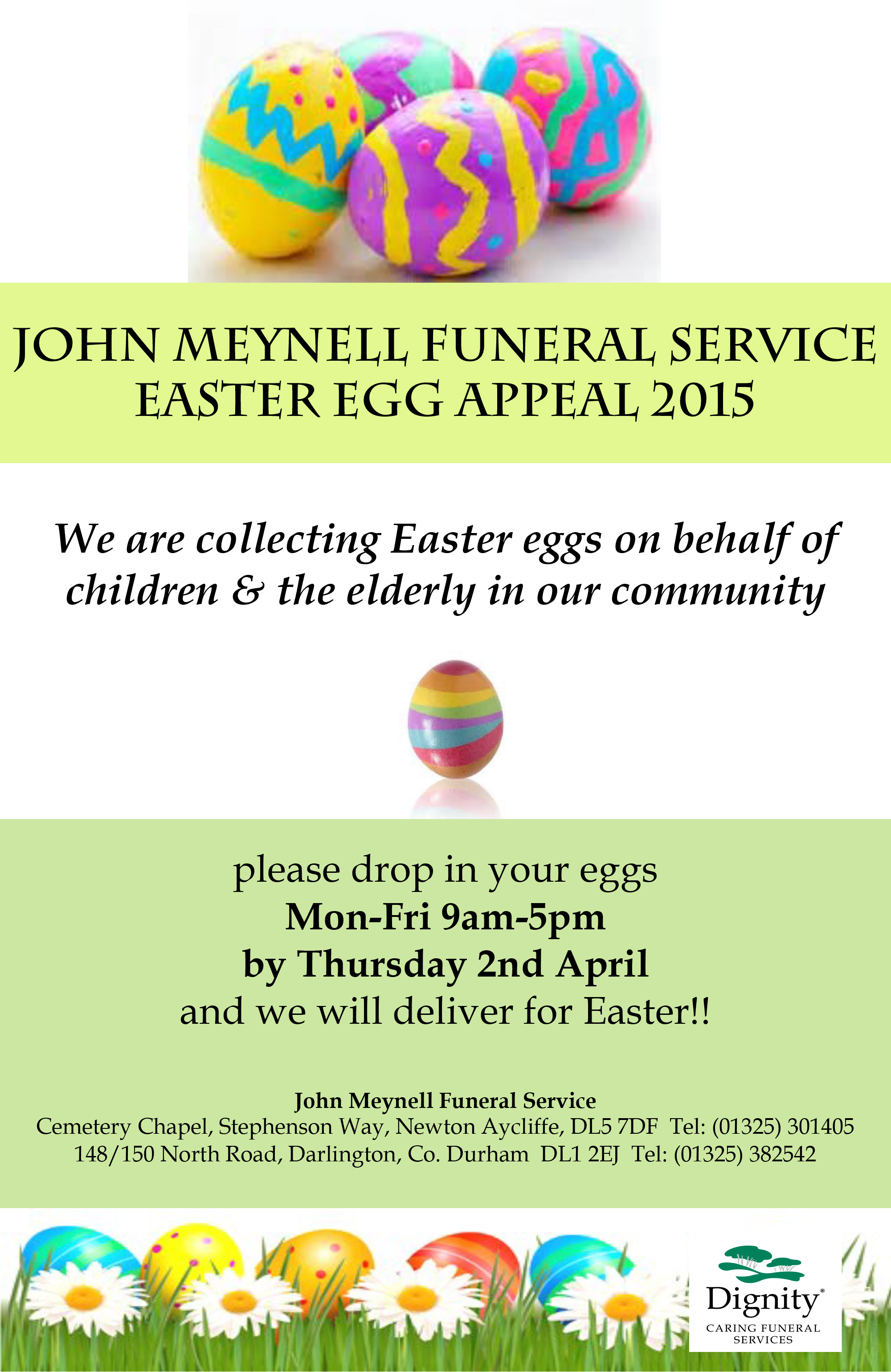 Local Funeral Director's Easter Egg Challenge