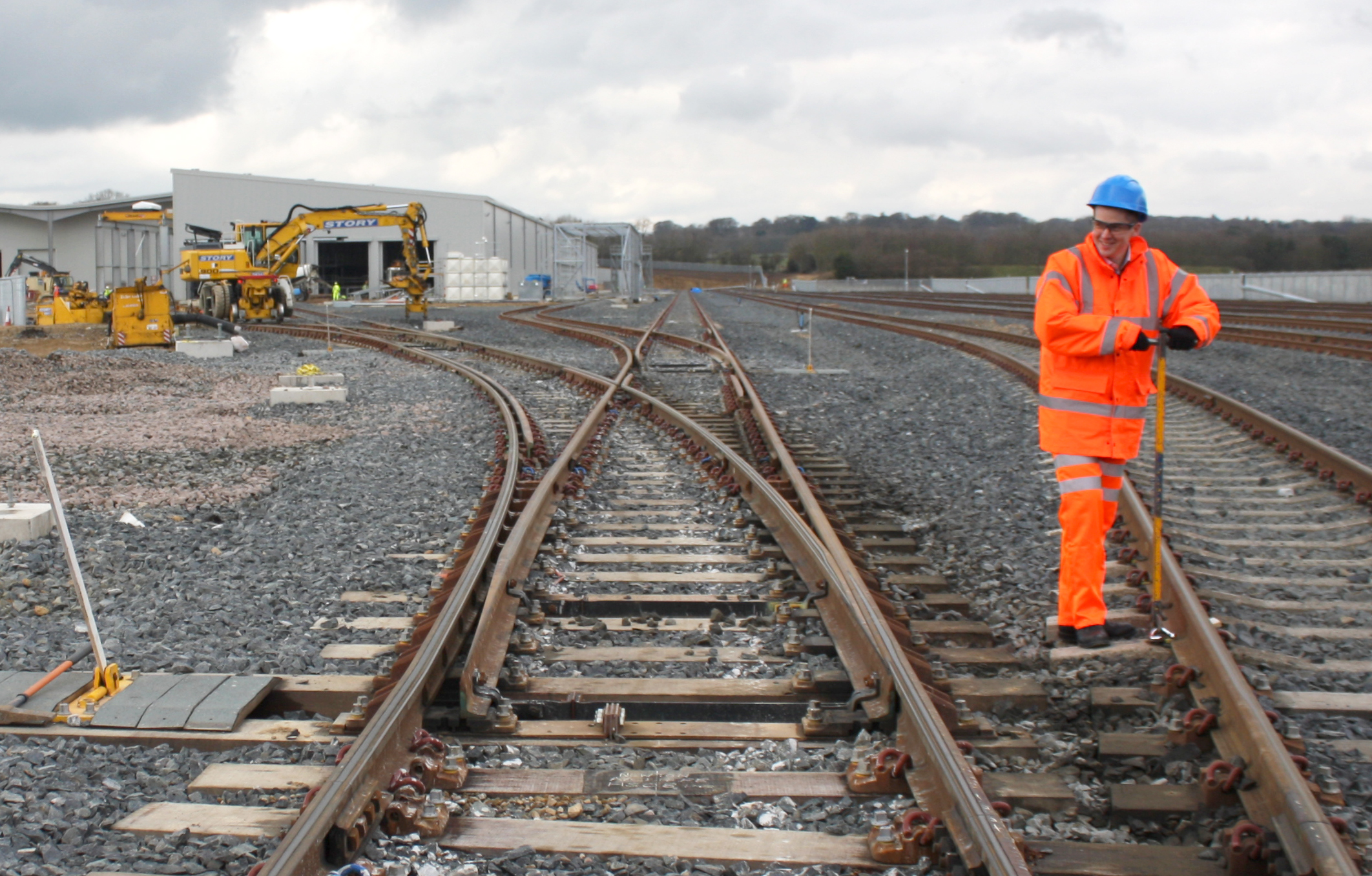 Rail Track Connection to Hitachi Factory